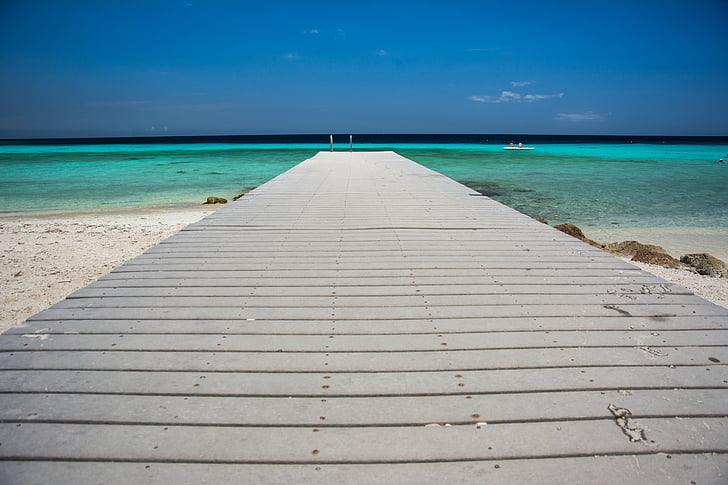 pier, tropical, beach, summer, ocean, vacation, exotic