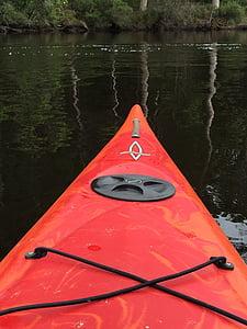 kajak, båt, vatten, kanot, äventyr, kajakpaddling, paddel