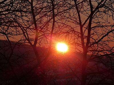 Alba, estat d'ànim, vermell, romàntic, natura, torna la llum, morgenstimmung