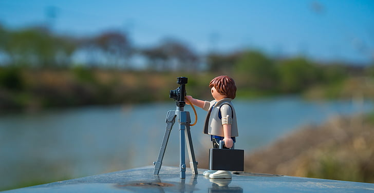 playmobil, photography, photographer, ex 4, tripod, shooting, camera