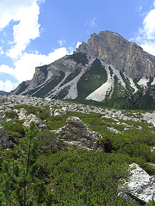 alpine, dolomites, mountain summit, mountain meadow, mountains, nature, landscape