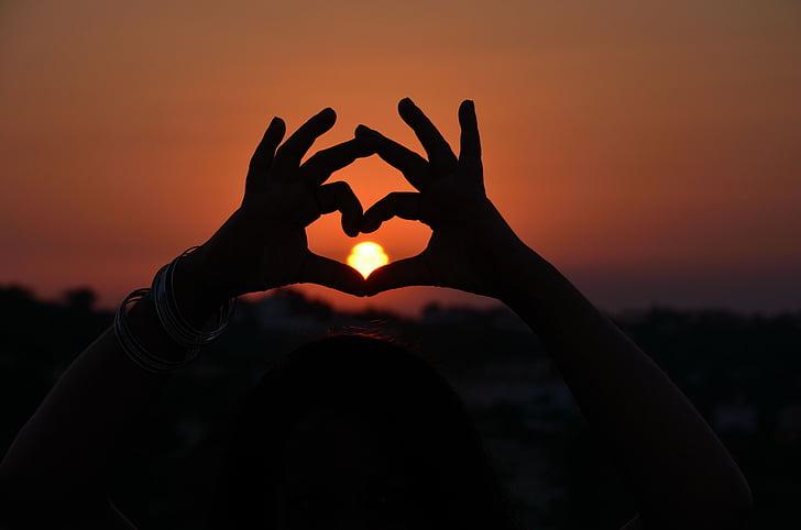 amor, romance, Chipre, pôr do sol, nascer do sol, sol, arrebol