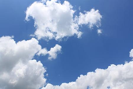 oblaki, nebo, oblaki nebo, modra, modro nebo oblaki, narave, vreme