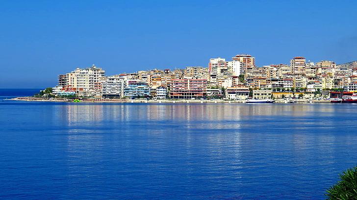 αρχιτεκτονική, κτίρια, πόλη, αστικό τοπίο, Ακτή, Ωκεανός, στη θάλασσα