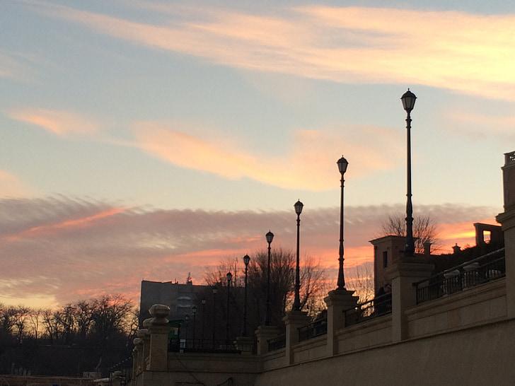 sky, sunset, pink, sunset sky, evening, clouds, evening sky