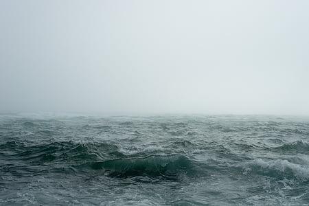 nebbia, nebbia, natura, oceano, tempo libero, mare, cielo