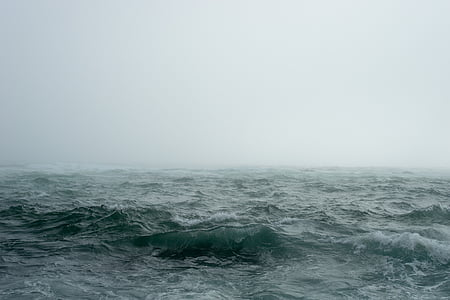 boira, boira, natura, oceà, a l'exterior, Mar, cel