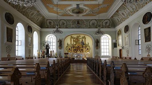 nau, Altötting, Catòlica, altar, bancs de l'església, llocs d'interès, casa de culte