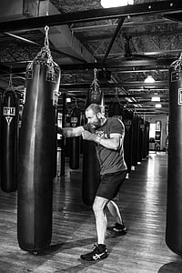 boxejador, boxa, gimnàs, formació, esport, lluita, combat