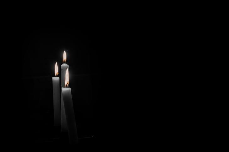espelmes, dol, llum de les espelmes, memòria, commemorar, mort, força