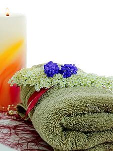 çiçek, Deco, Dekorasyon, bitki, mum, havlu, Sağlık
