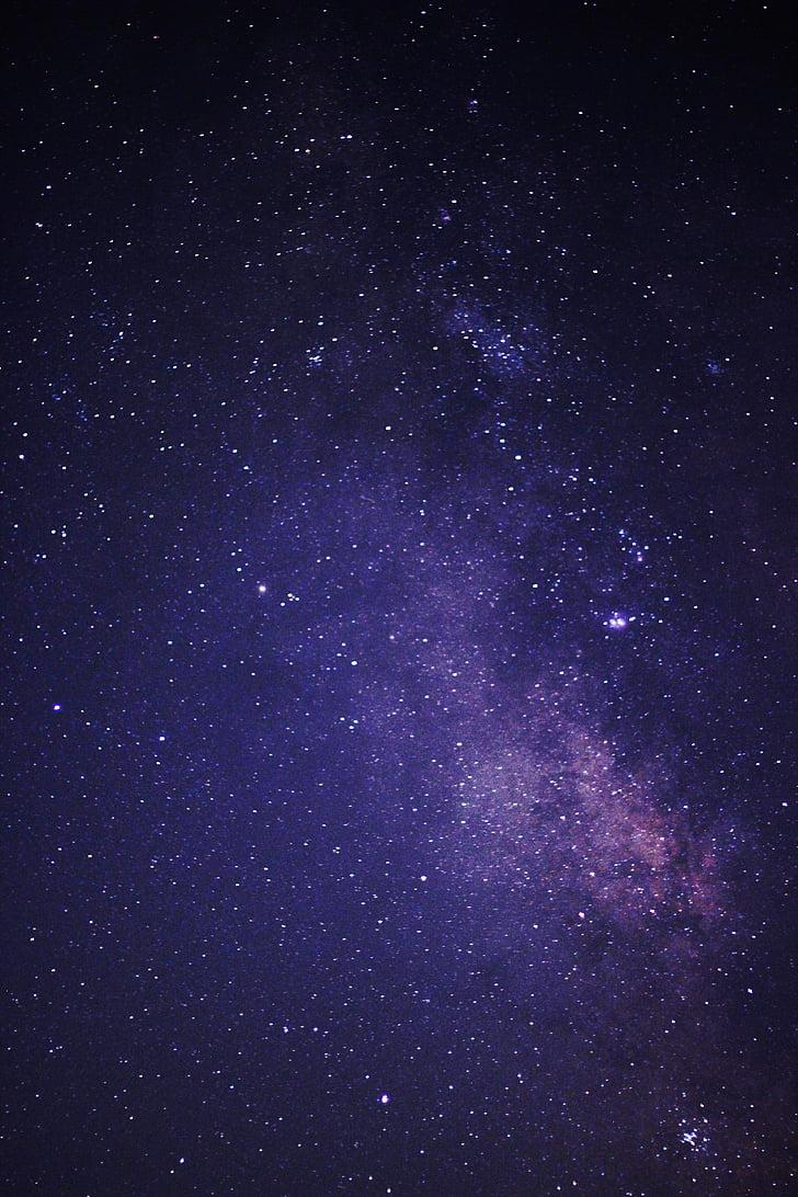 nattehimmelen, Melkeveien, mørket, natt, himmelen, nattehimmelen, universet