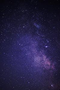夜晚的天空, 银河, 黑暗中, 晚上, 天空, 夜晚的天空, 宇宙