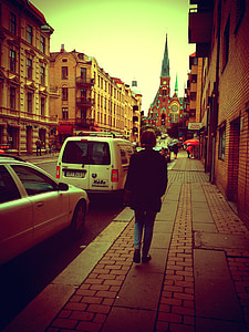 Göteborg, kyrkan, Oscar fredrik, linne, promenad, Sverige, staden