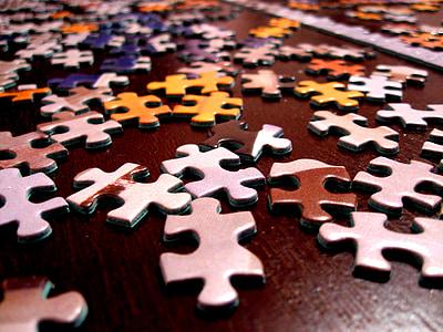 trencaclosques, joc, solució, connexió, peça, èxit, estratègia