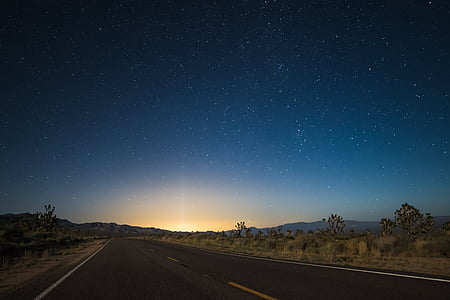 night, outdoors, road, scenic, sky, stars, travel