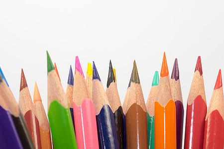 värvilised pliiatsid, puidust pesulõksud, pliiatsid, Värviline, Värv, värvi, kooli
