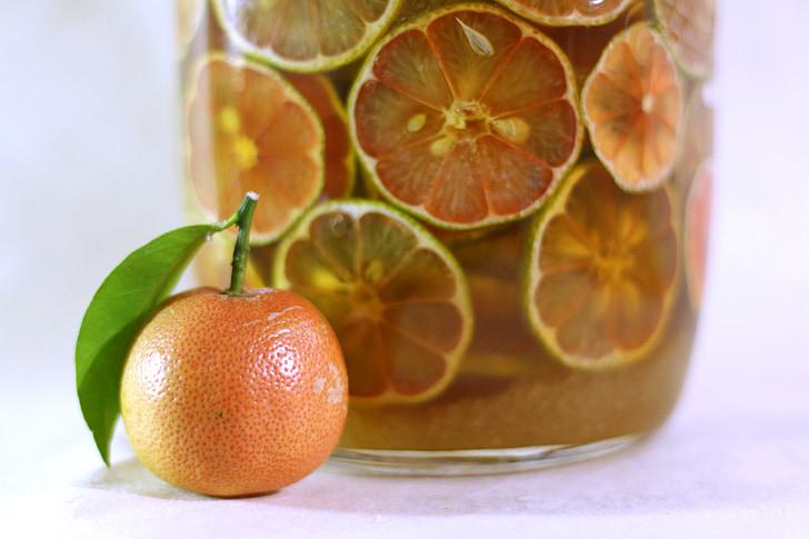 Rosa llimona, llimona, mel, aliments, llesca, Orgànica