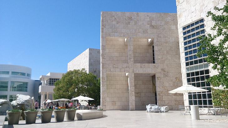 Центр Гетти, здание, Флорентийский мрамор, Архитектура, Модернизм, современные, Перспектива