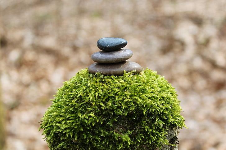 tas de pierres, pile, pierres, Balance, toujours, détente, reste