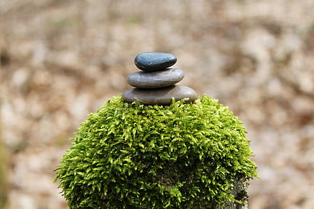 stone pile, stack, stones, balance, still, relaxation, rest