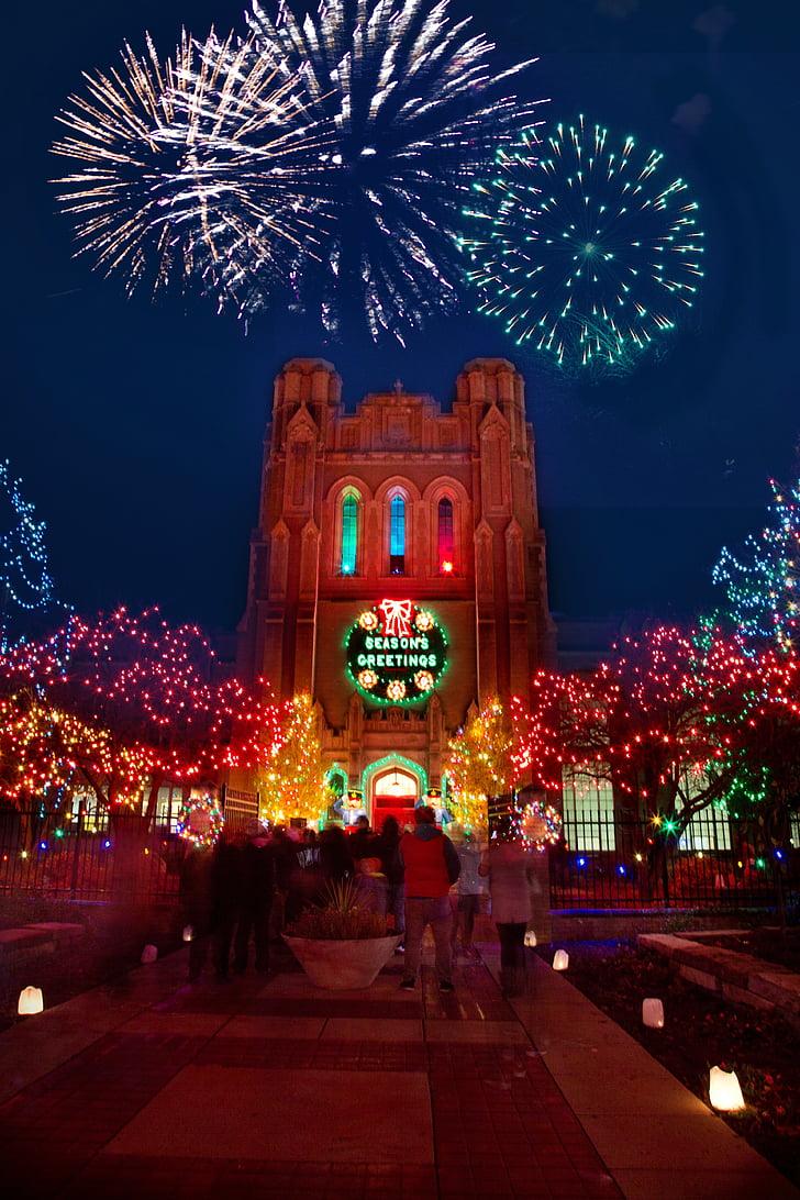Christmas, Xmas, lys, Julelys, dekorasjon, ferie, festlig