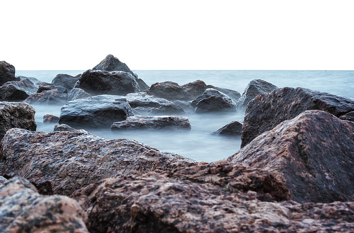 boira, granit, Golf, roques, Mar, vapor, pedres