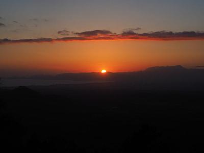 Palmabukten, Palma, solnedgång, Solar disk, eldklot, solen, aftonstund