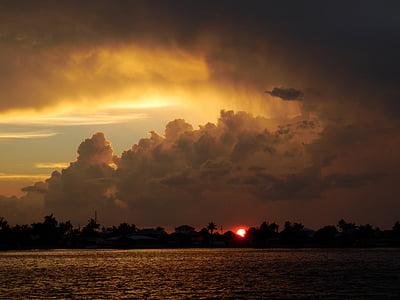 вечірнє небо, грозових хмар, Буря, темні хмари, Хмара фронт, драма, Сутінки