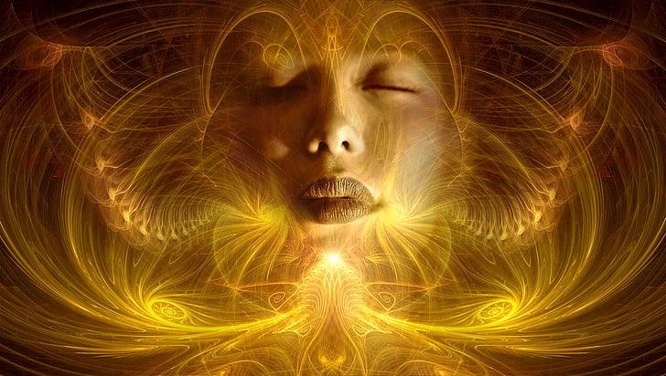 fantasia, transcendència, composició, màgia, or, bonica, ambient