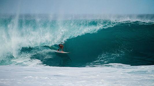 Surf, Surf, planche de surf, vagues, eau, océan, surfeur