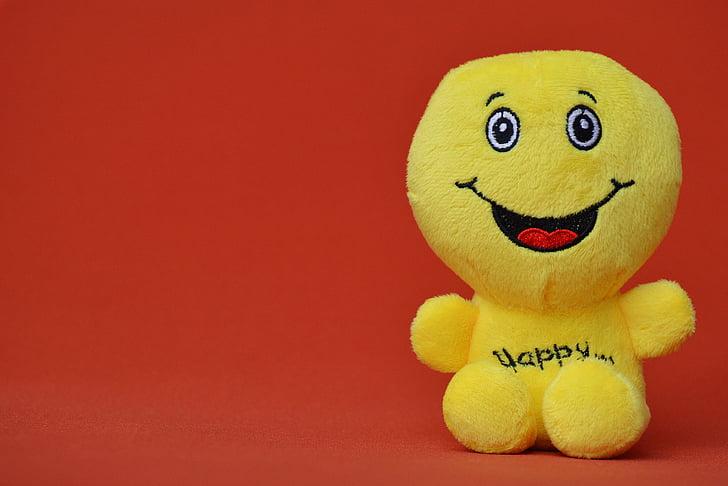 somrient, riure, divertit, emoticon, emoció, groc, verd