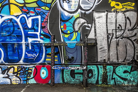grafiti, latar belakang, grunge, seni jalanan, grafiti dinding, grafiti, artistik
