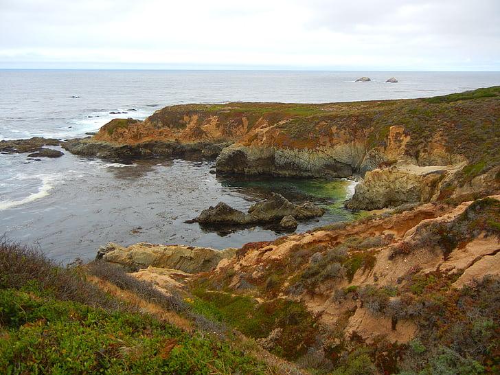 Ocean, Vaikse ookeani, California, rannikul, rannajoon