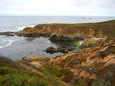 oceà, del Pacífic, Califòrnia, Costa, Costa