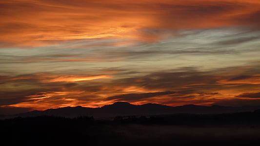 solen, morgon, humör, tidigt på morgonen, Skies, morgonsolen, morgonljuset