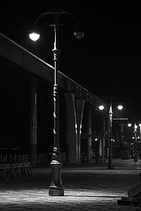 wolmido, incheon, street lights, black and white, light, lighting, street