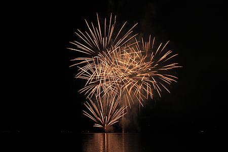 fireworks, explosion, celebration, night, exploding, firework Display, fire - Natural Phenomenon