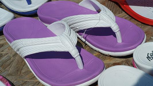 sandàlies, xancletes, sabates, sabates de platja, accessoris, fàcilment, femella