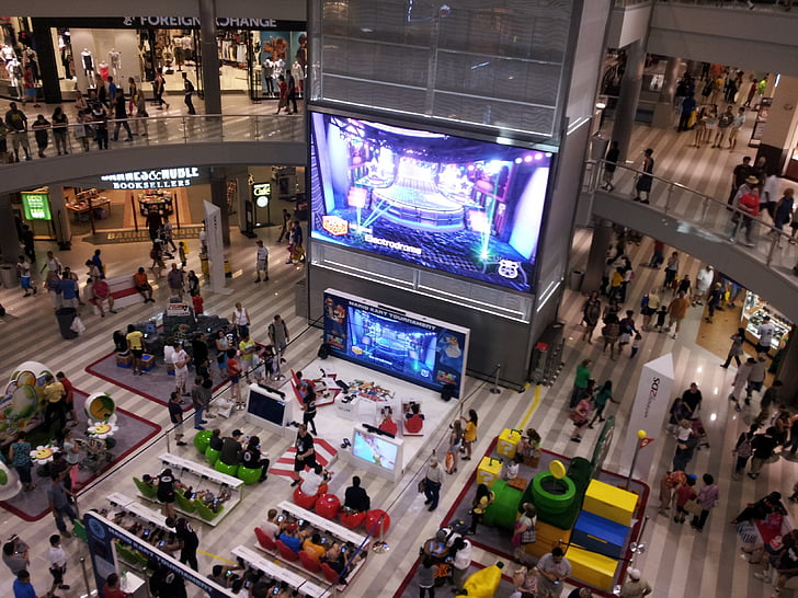 shopping mall, mall of america, video game, event, gathering, indoor