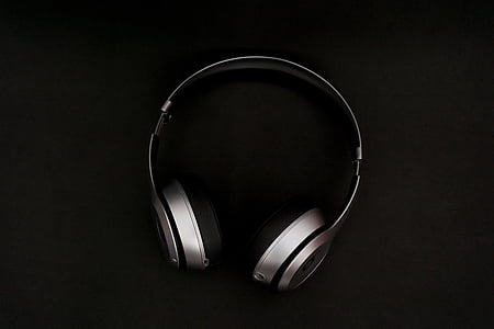 headphones, music, song, foam, black, playlist, band