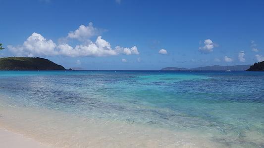 Karib-tengeri, nyugalom, utazás, trópusi, víz, nyaralás, paradicsom