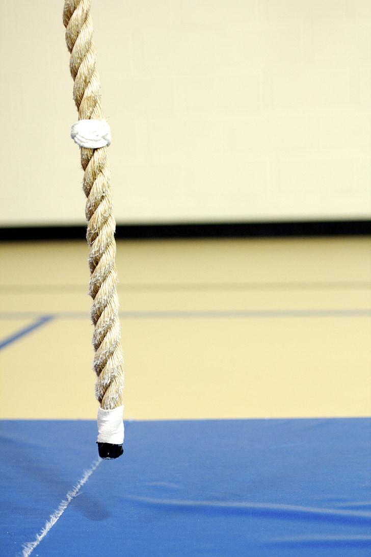 kāpšana, virve, trenažieru zāle, apmācības