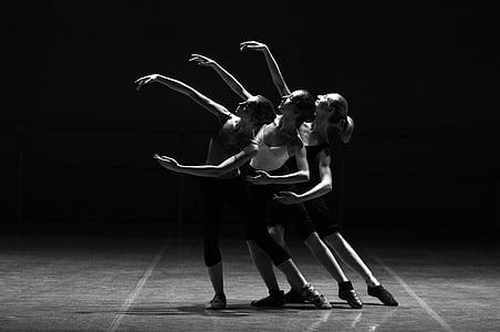 adult, art, ballerina, ballet, black and white, dance, dancer