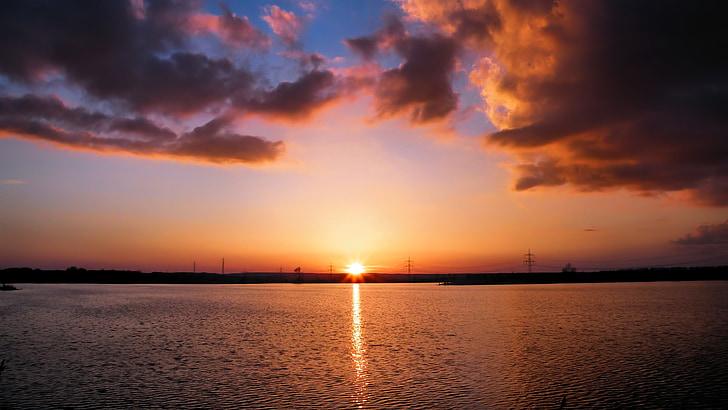 조 경, 일몰, 황혼, 자연, 스카이, 저녁 하늘, 구름