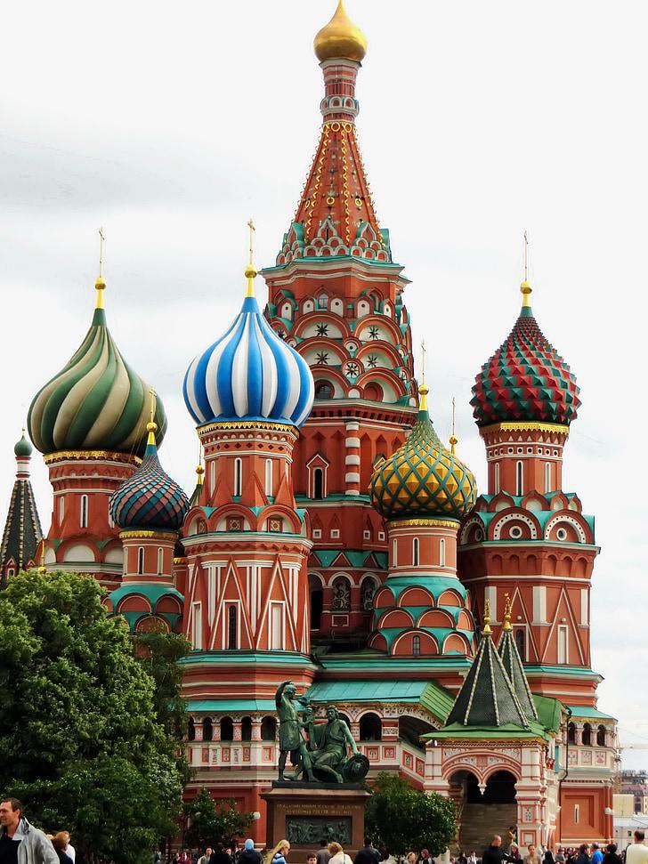 Rusko, Moskva, Červené námestie, kostol, St-basile, Saint basil's cathedral, náboženstvo