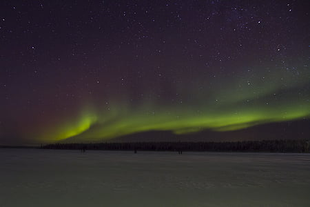 nordlys, Finland, Lapland, stjerne - rummet, nat, astronomi, aurora borealis