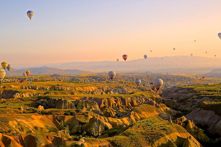 adventure, aerial, anatolia, aviation, cappadocia, desktop backgrounds, desktop