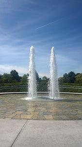 vesi, suihkulähteet, suihkulähde, virtaa, kesällä, Luonto, Ulkouima