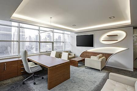 Oficina, interior, conjunt, negoci, tecnologia, executiu, sala